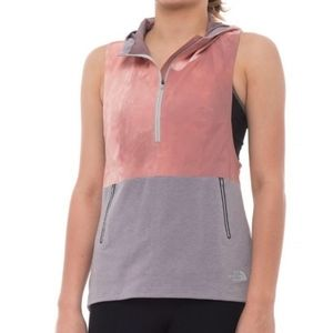 The North Face Terra Metro Hooded Vest- Pink, Gray
